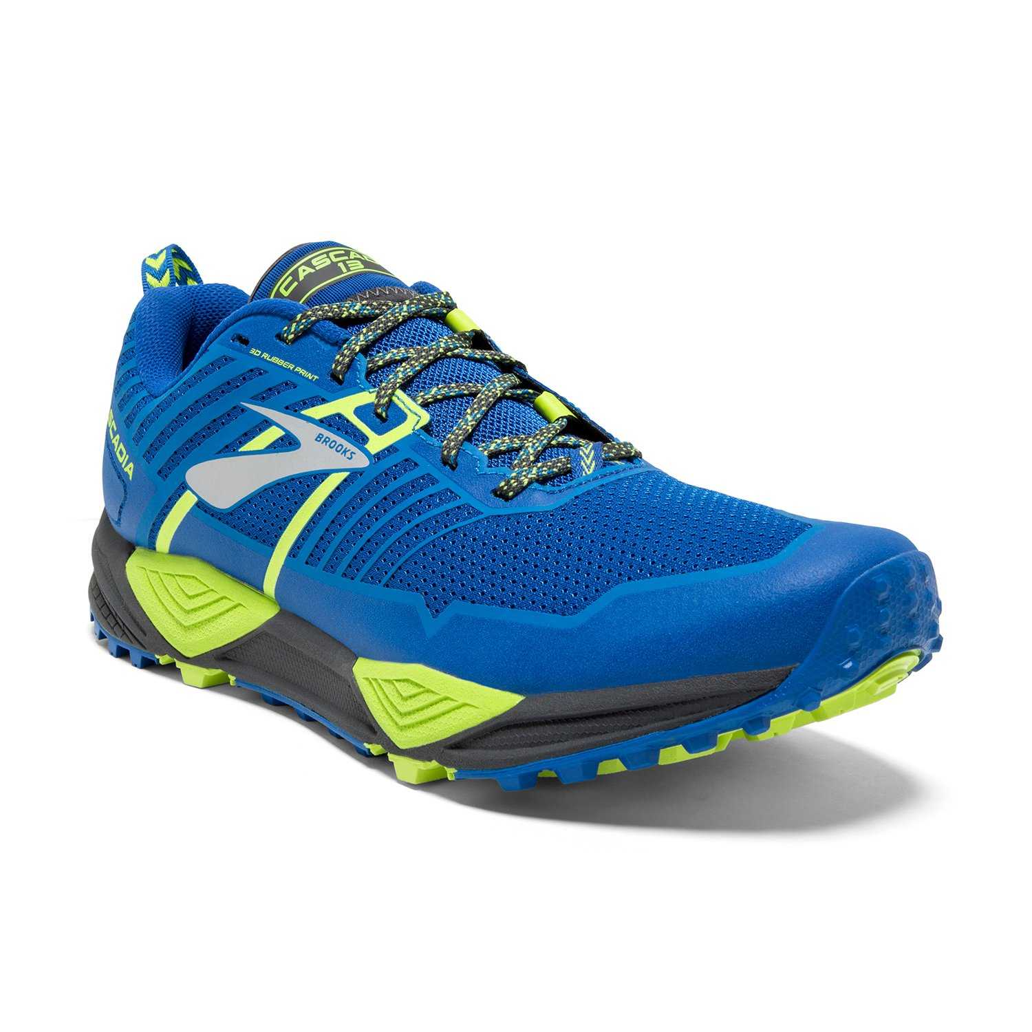 Chaussures Running Cascadia 13 - Blue/Black/Lime