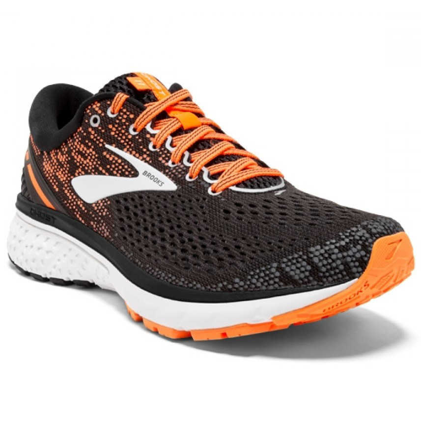 Chaussure Running Ghost 11 Homme - Black/Silver/Orange
