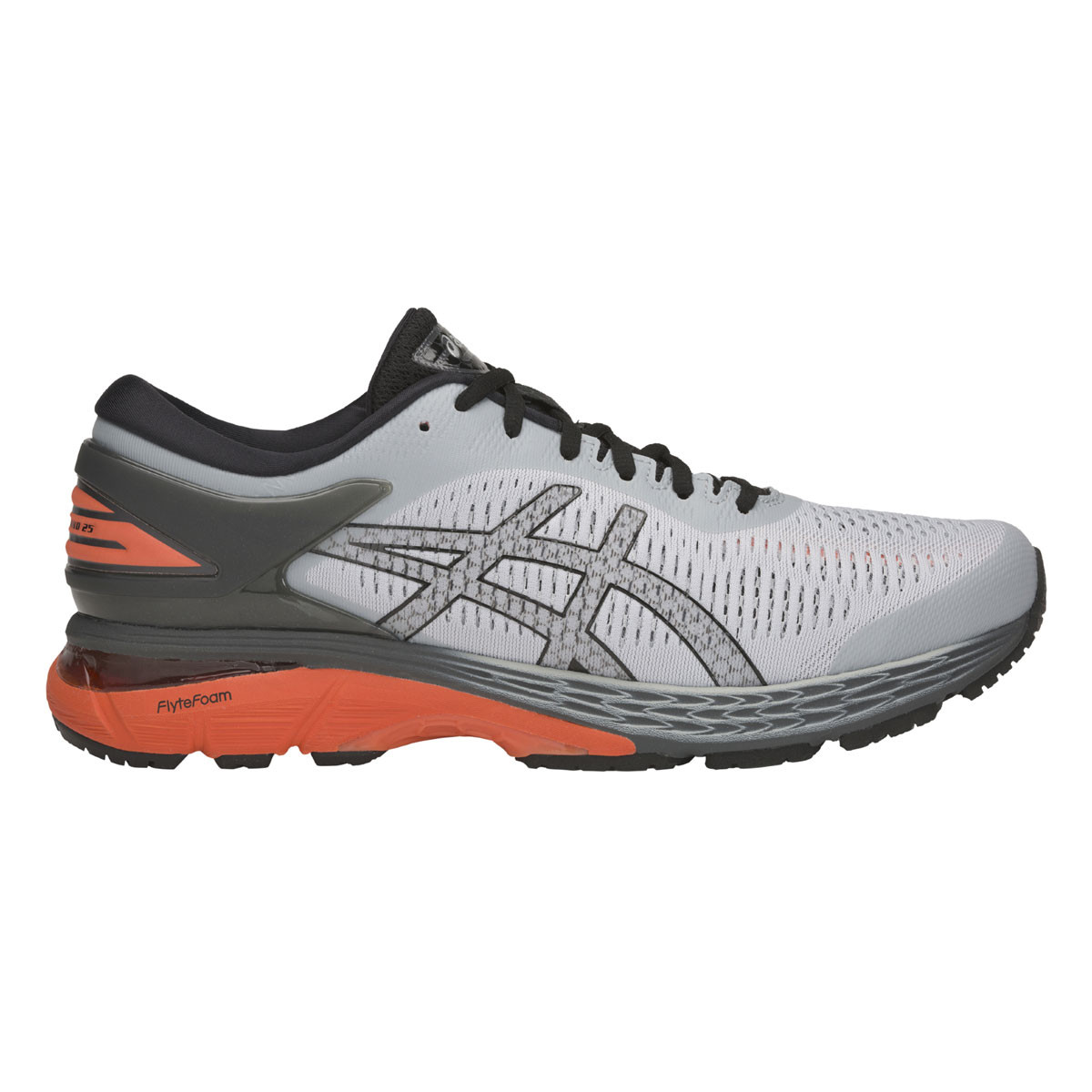 Chaussure de running Gel Kayano 25 - Mid Grey/Nova Orange 1