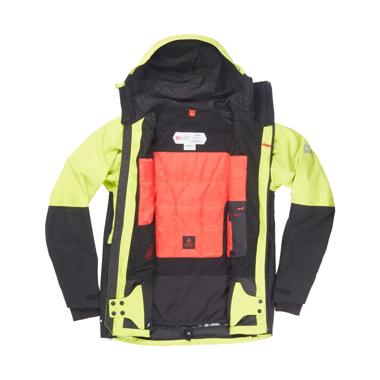 Veste de snowboard GLCR Hydra Thermagraph Jacket - Lime Twill Color Block 2
