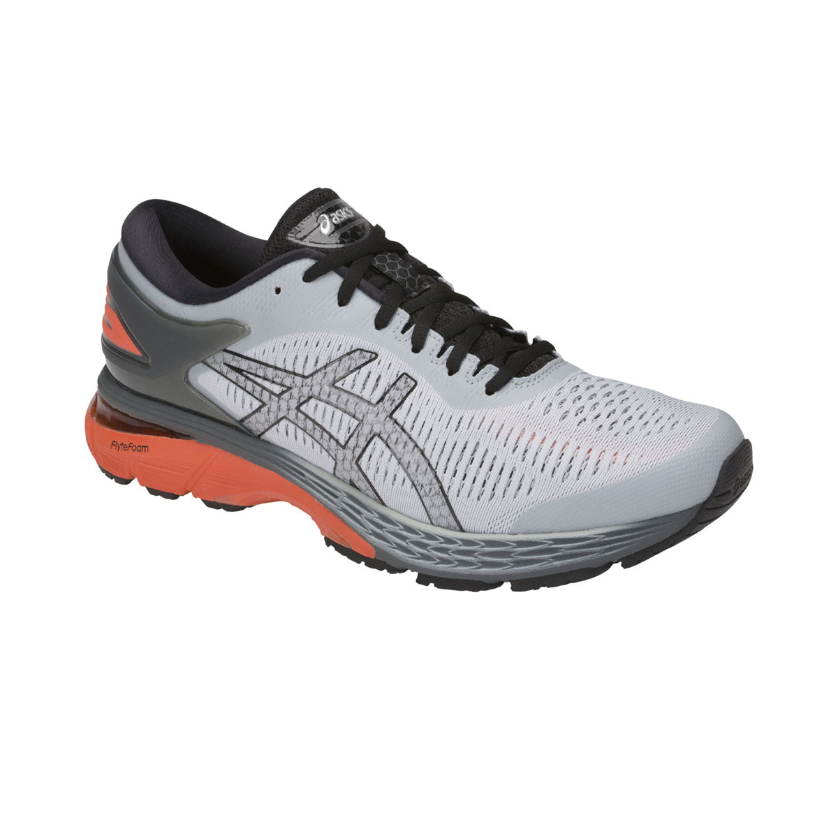 Chaussure de running Gel Kayano 25 - Mid Grey/Nova Orange