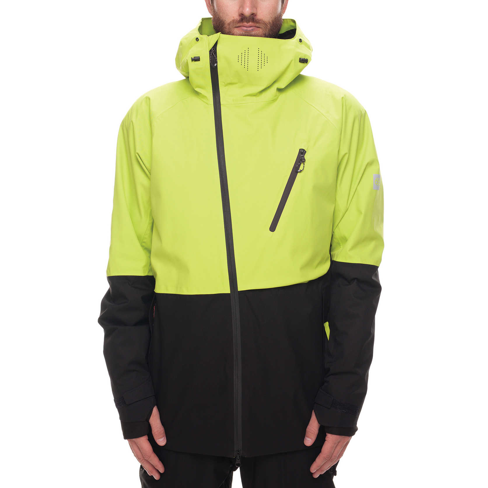 Veste de snowboard GLCR Hydra Thermagraph Jacket - Lime Twill Color Block