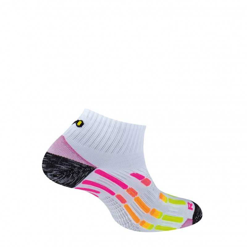 Chaussettes Pody Air Run - Blanc Rose