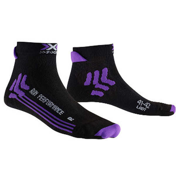 Chaussettes Run Performance Lady - Noir Violet
